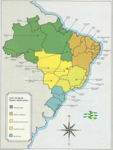 mapa do brasil estados e capitais